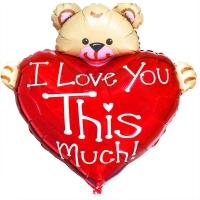 ILY медведь с сердцем
