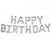 """Надпись """"""""Happy Birthday"""" серебро"""